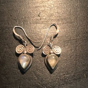 Sterling and moonstone earrings